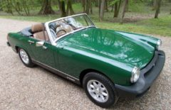 MG Midget Brooklands Green 17,596 miles (BBT656V)