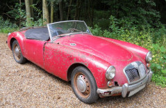 MGA Roadster Mk1 one owner 50+years