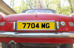 'MG' Number Plate For Sale